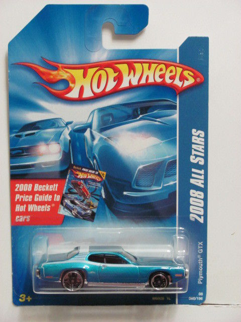 HOT WHEELS 2008 ALL STARS PLYMOUTH GTX BLUE E+