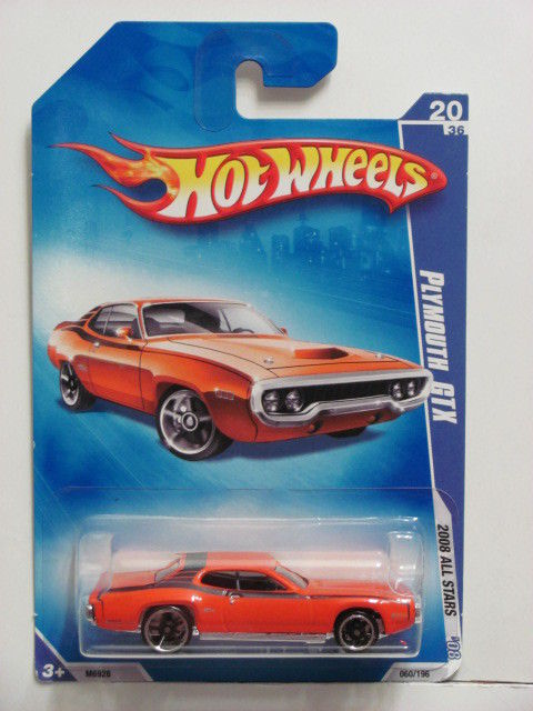 HOT WHEELS 2008 ALL STARS PLYMOUTH GTX #20/36 ORANGE
