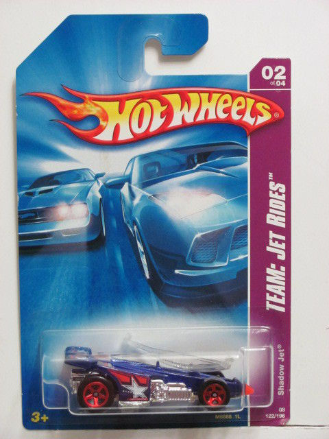 HOT WHEELS 2008 TEAM JET RIDES SHADOW JET BLUE