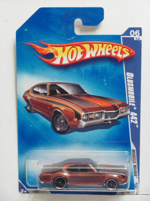 HOT WHEELS 2009 MUSCLE MANIA OLDSMOBILE 442 #06/10