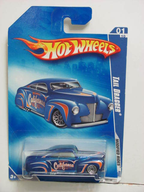 HOT WHEELS 2009 MODIFIED RIDES TAIL DRAGGER #01/10