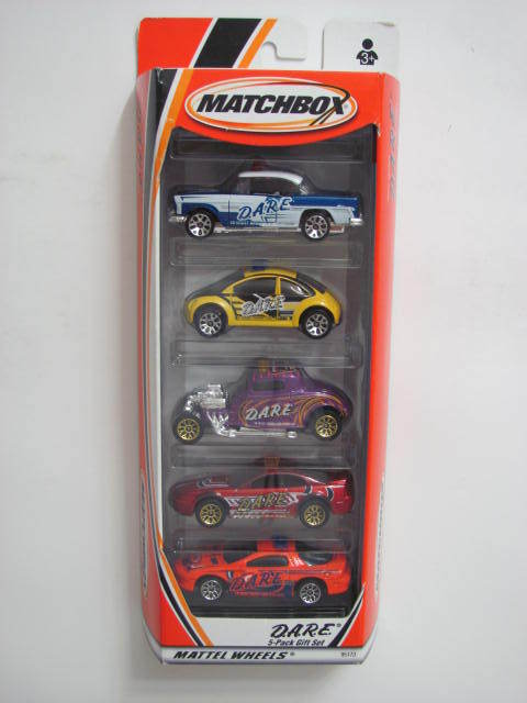 MATCHBOX 5 CAR PACK CHEVY BEL AIR VW CONCEPT FORD COUPE 99 MUSTANG