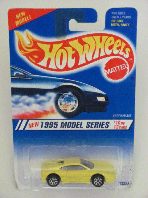 HOT WHEELS 1995 MODEL SERIES FERRARI 355 YELLOW #350