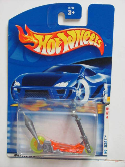 HOT WHEELS 2001 FIRST EDITIONS MO' SCOOT #045 INTERNATIONAL CARD