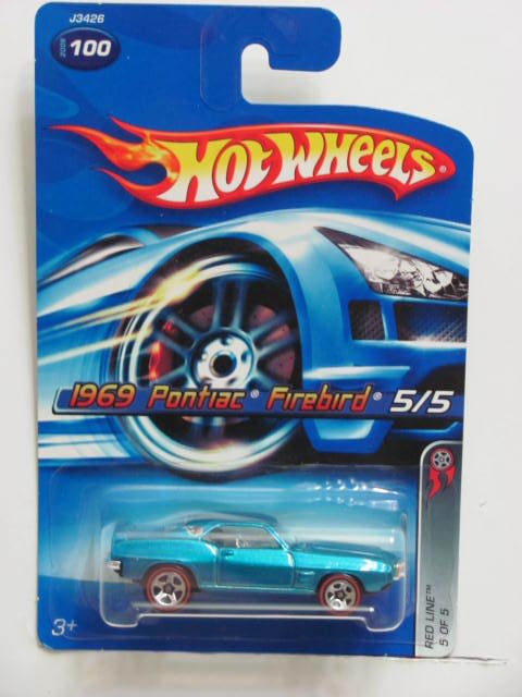 HOT WHEELS 2006 RED LINE 1969 PONTIAC FIREBIRD #100