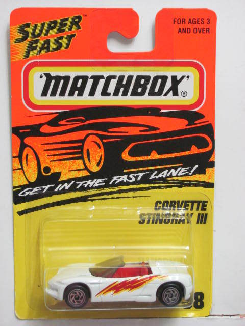 MATCHBOX 1995 CORVETTE STINGRAY III #38 WHITE