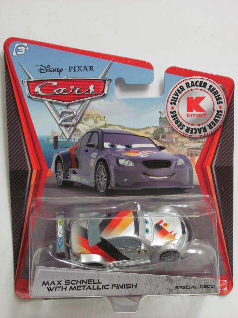 DISNEY PIXAR CARS 2 - KMART EXCLUSIVE MAX SCHNELL WITH METALLIC FINISH