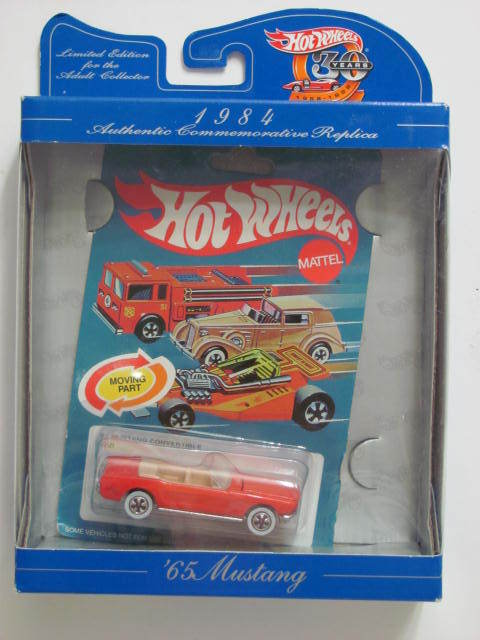 HOT WHEELS 1984 AUTHENTIC '65 MUSTANG CONVERTIBLE RED