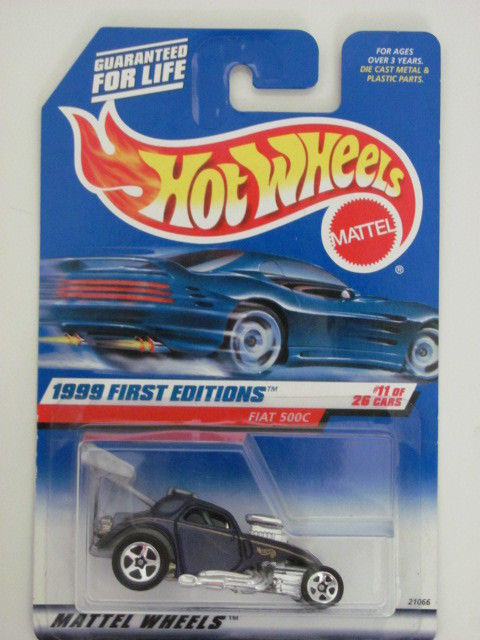 HOT WHEELS 1999 FIRST EDITIONS FIAT 500C #11/ 26