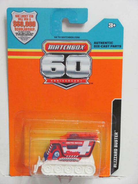 2013 MATCHBOX 60TH ANNIVERSARY CARD BLIZZARD BUSTER