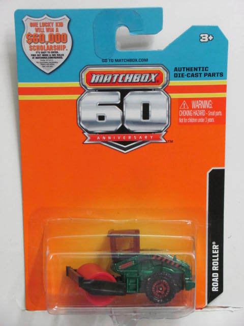 2013 MATCHBOX 60TH ANNIVERSARY CARD ROAD ROLLER