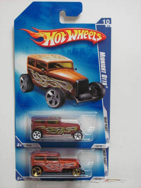 HOT WHEELS 2009 HEAT FLEET MIDNIGHT OTTO #10/10 COLOR VARIATION