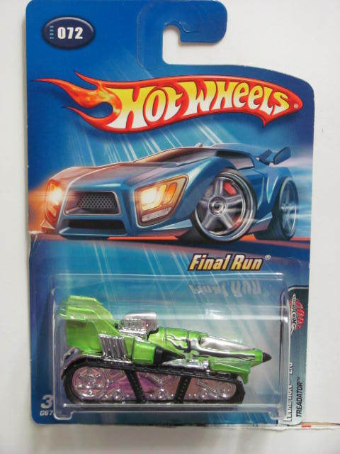 HOT WHEELS 2005 FINAL RUN #072 TREADATOR GREEN