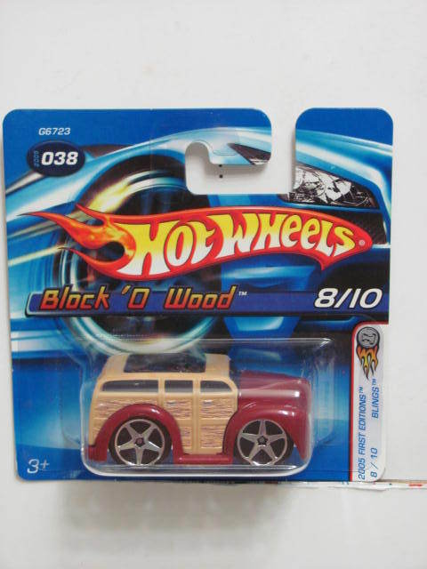 HOT WHEELS 2005 FIRST EDITIONS BLOCK'O WOOD #038 SHORTCARD