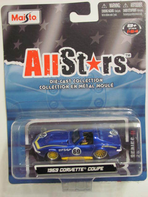 MAISTO ALLSTARS 1969 CORVETTE COUPE BLUE