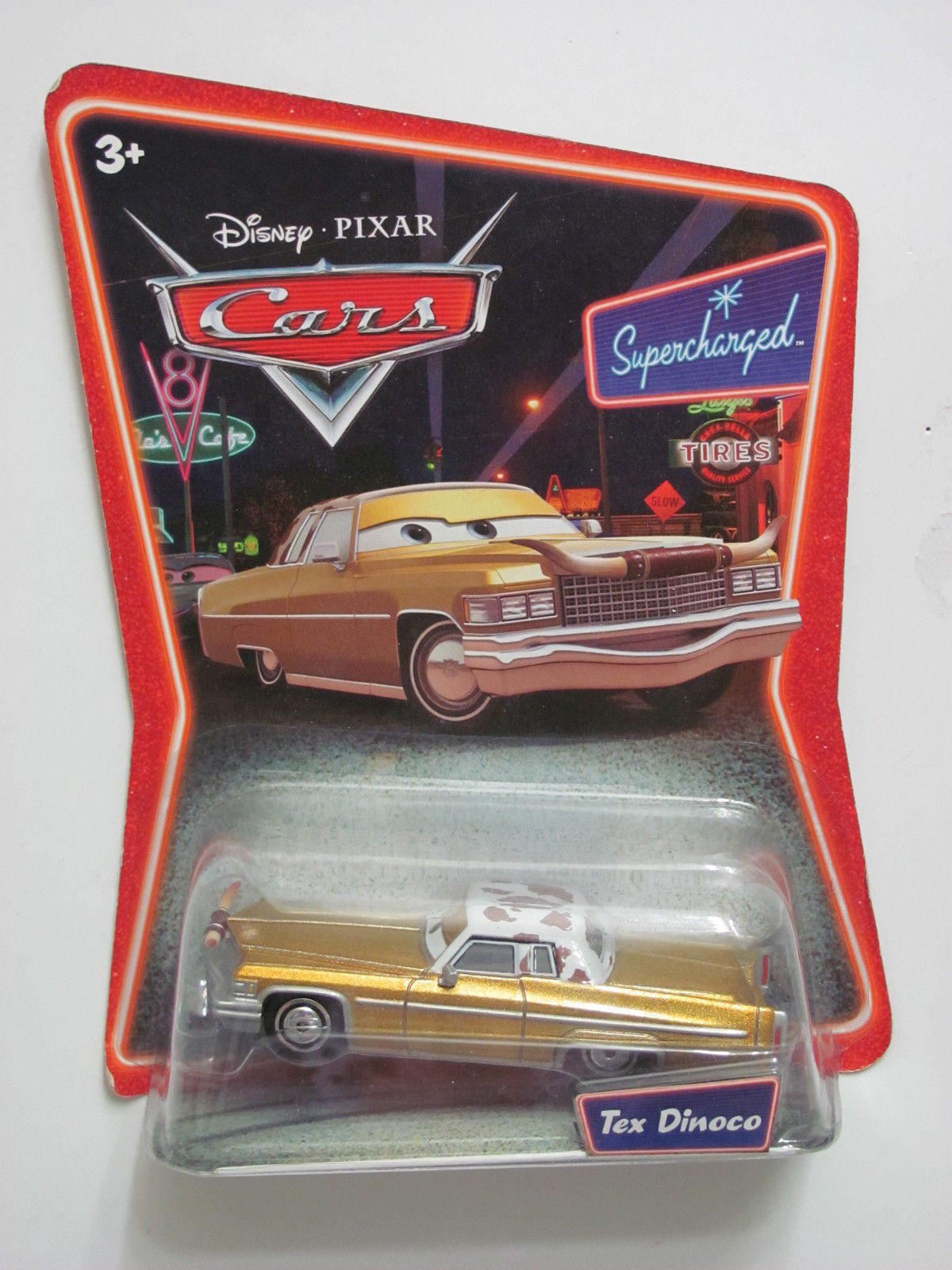 DISNEY PIXAR CARS SUPERCHARGED TEX DINOCO
