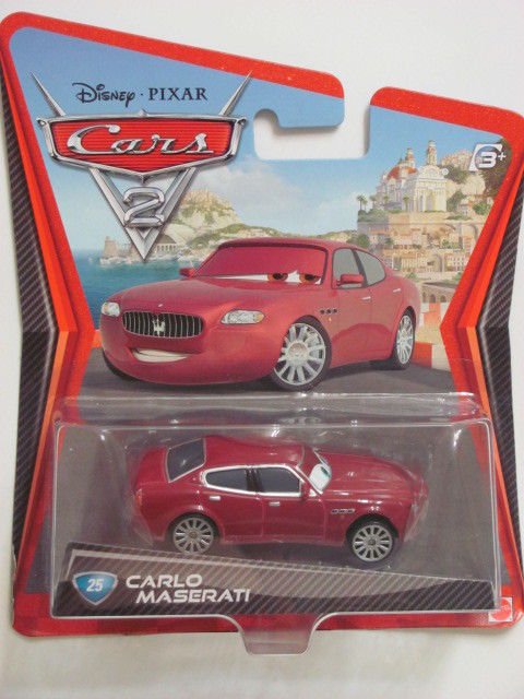 DISNEY PIXAR CARS 2 CARLO MASERATI #25 RED
