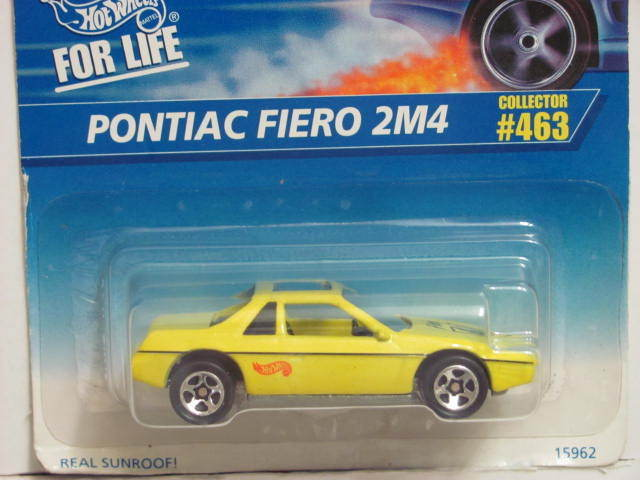 HOT WHEELS 1996 PONTIAC FIERO 2M4 #463 E+