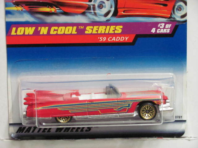 HOT WHEELS 1998 LOW 'N COOL SERIES '59 CADDY #699 E+