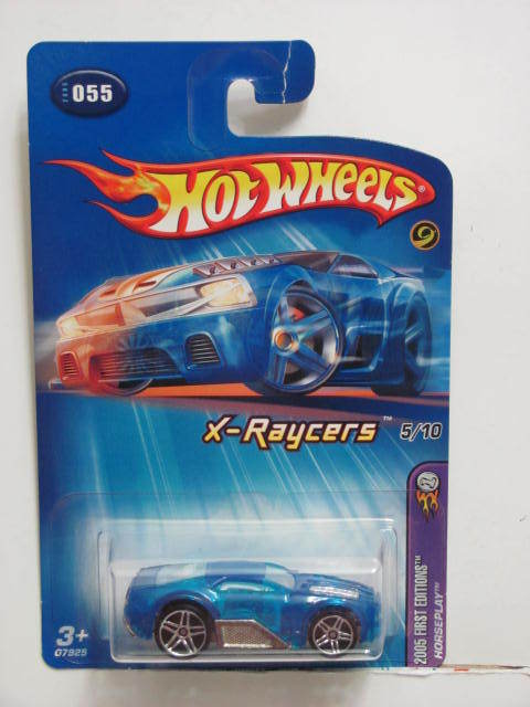 HOT WHEELS 2005 FIRST EDITIONS HORSEPLAY X-RAYCERS #055 BLUE