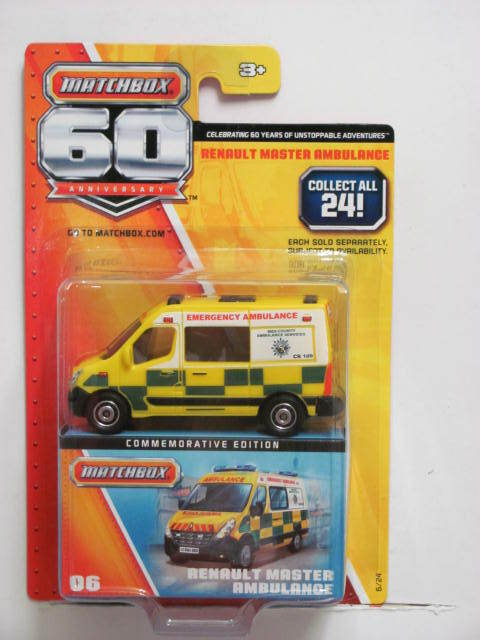 MATCHBOX 60TH ANNIVERSARY RENAULT MASTER AMBULANCE #06