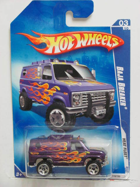 HOT WHEELS 2009 HEAT FLEET BAJA BREAKER PURPLE