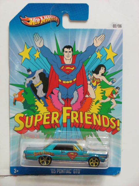HOT WHEELS 2013 SUPERMAN FRIENDS '65 PONTIAC GTO #02/06