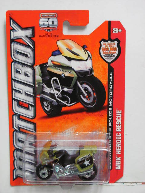 MATCHBOX MBX HEROIC RESCUE BMW R1200 RT-P POLICE MOTORCYCLE