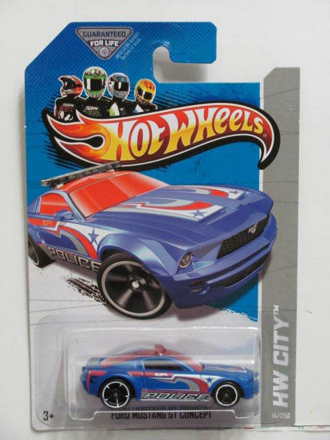 HOT WHEELS 2013 HW CITY - HW RESCUE FORD MUSTANG GT CONCEPT TREASURE HUNT