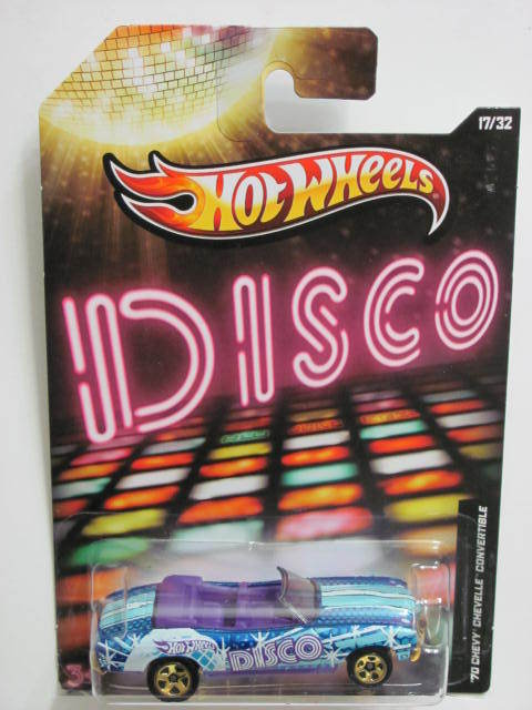 HOT WHEELS 2012 JUKEBOX DISCO '70 CHEVY CHEVELLE CONVERTIBLE #17/32