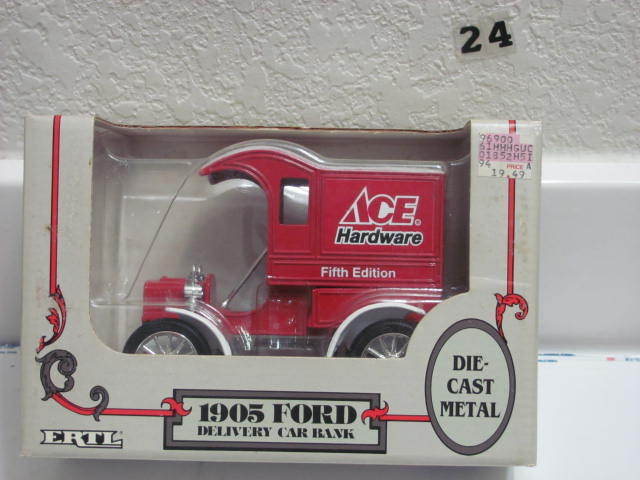 ERTL DIECAST METAL 1905 FORD DELIVERY CAR BANK 1:25 SCALE