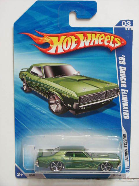 HOT WHEELS 2010 MUSCLE MANIA '69 COUGAR ELIMINATOR