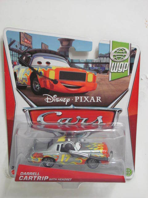 DISNEY PIXAR CARS - 2013 WGP DARRELL CARTRIP WITH HEADSET