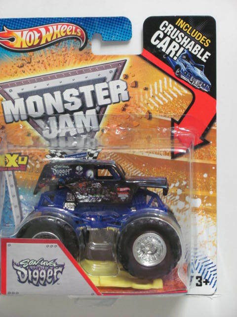 MONSTER JAM 2012 INCLUDES CRUSHABLE CAR SON-UVA DIGGER (GRAVE DIGGER SON)