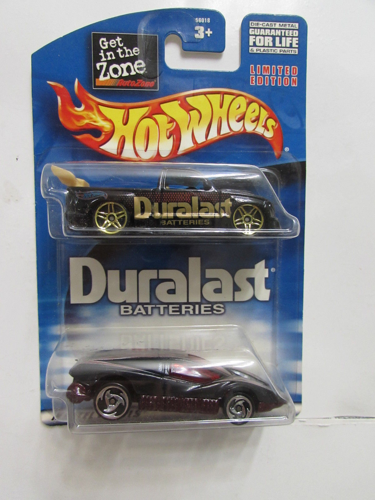 HOT WHEELS 2 CAR PACK DURALAST BATTERIES SUPER TUNED - SILVER BULLET