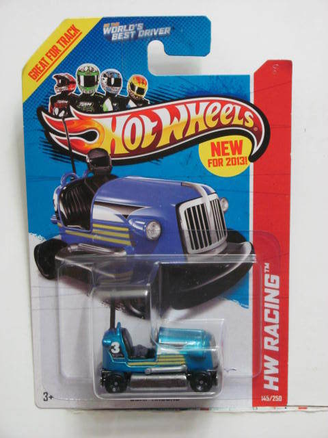 HOT WHEELS 2013 HW RACING - SUPER CHROMES BUMP AROUND BLUE