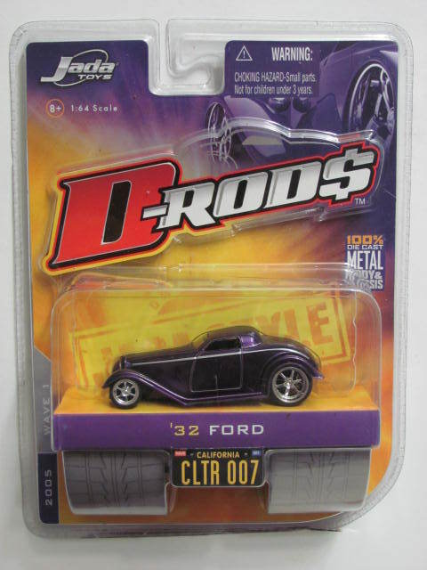 JADA TOYS D-RODS 2005 WAVE 1 1:64 SCALE '32 FORD PURPLE