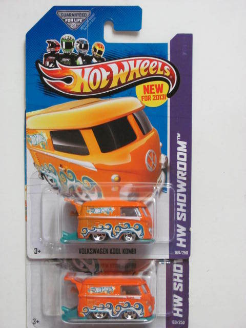 HOT WHEELS 2013 HW SHOWROOM-HOT TRUCKS VOLKSWAGEN KOOL KOMBI COLOR VARIATION E+