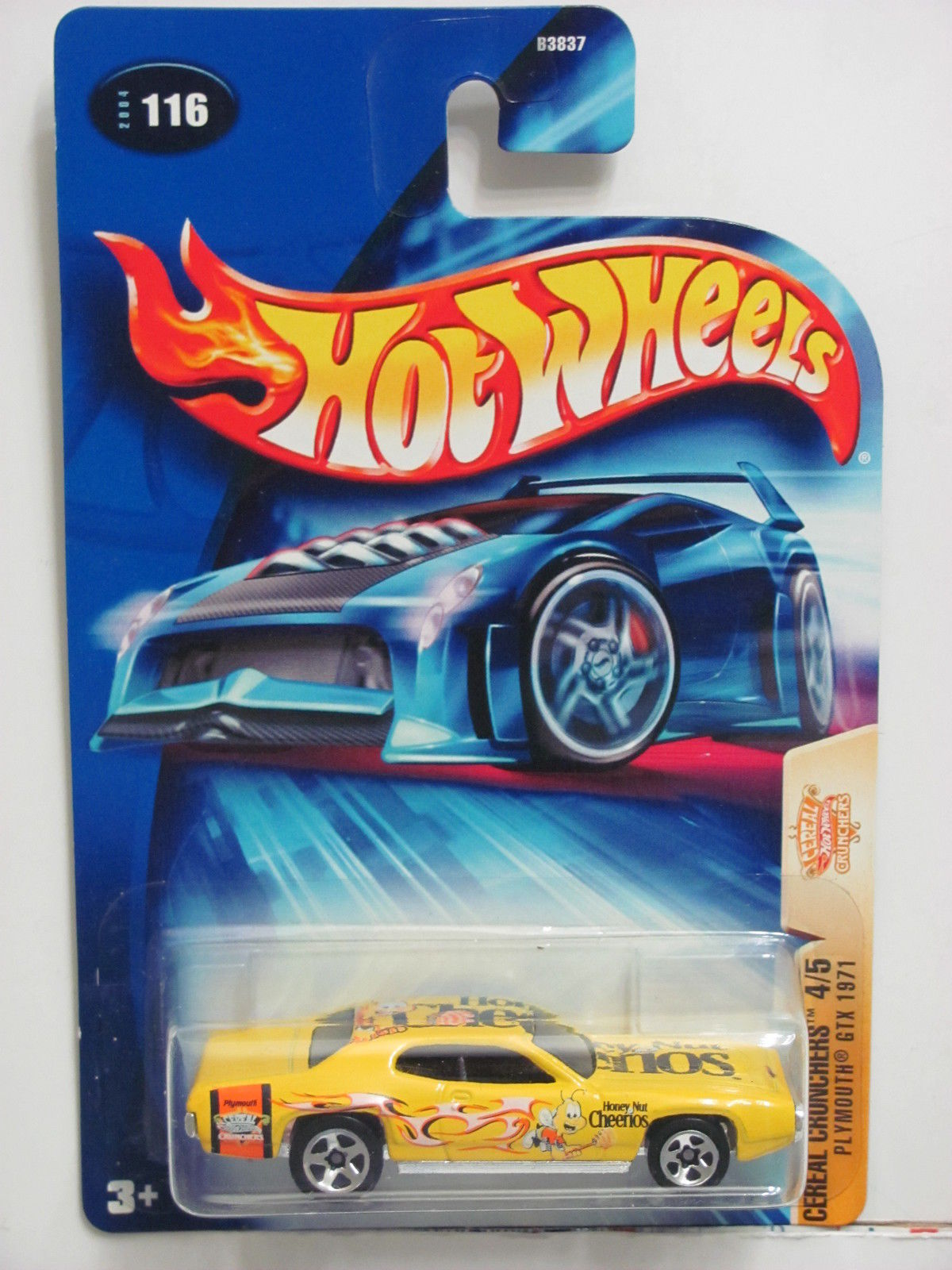 HOT WHEELS 2004 CEREAL CRUNCHERS PLYMOUTH GTX 1971
