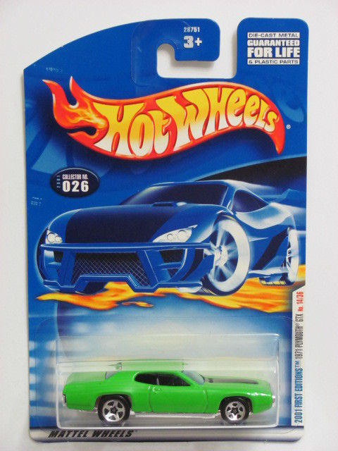 HOT WHEELS 2001 FIRST EDITIONS 1971 PLYMOUTH GTX #026