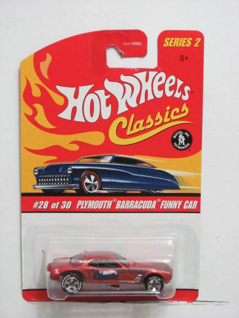 HOT WHEELS CLASSICS SERIES 2 PLYMOUTH BARRACUDA FUNNY CAR BRONZE E+