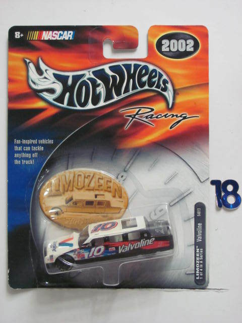 NASCAR HOT WHEELS RACING 2002 VALVOLINE LIMOZEEN #10