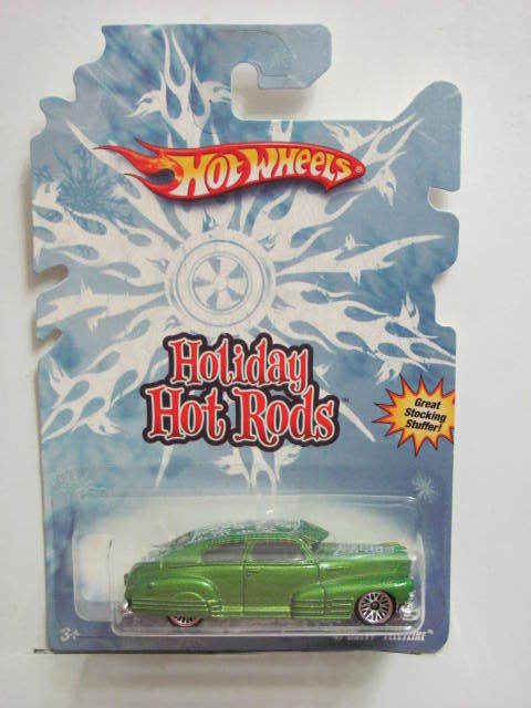 HOT WHEELS HOLIDAY HOT RODS '47 CHEVY FLEETLINE GREEN
