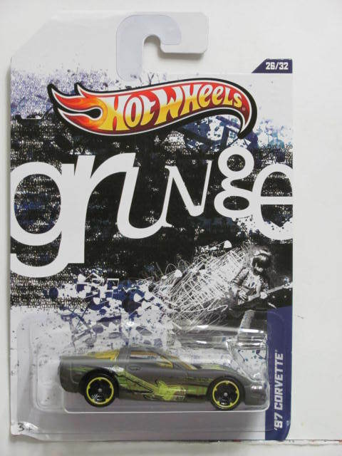HOT WHEELS 2012 JUKEBOX GRUNGE '97 CORVETTE GREEN