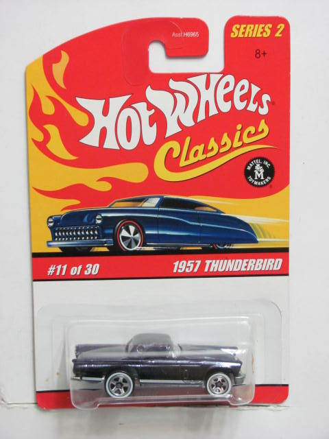 HOT WHEELS CLASSICS SERIES 2 #11/30 1957 THUNDERBIRD GRAY