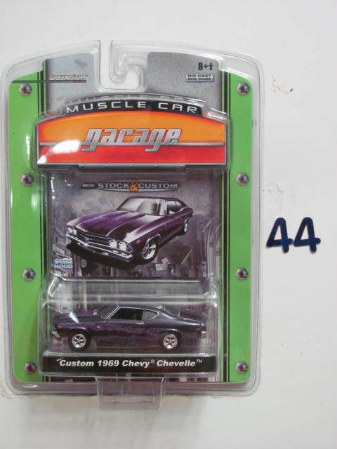 GREENLIGHT MUSCLE CAR GARAGE CUSTOM 1969 CHEVY CHEVELLE 1:64 SC