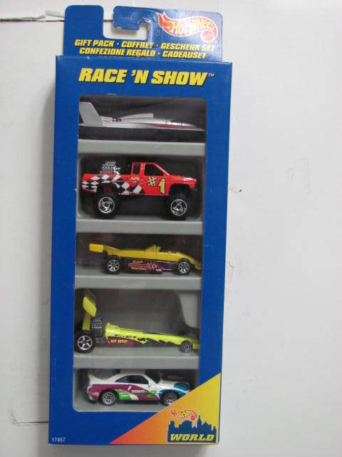 HOT WHEELS RACE'N SHOW HYDROPLANE NISSAN DRIVEN RALLY 5 CAR PACK