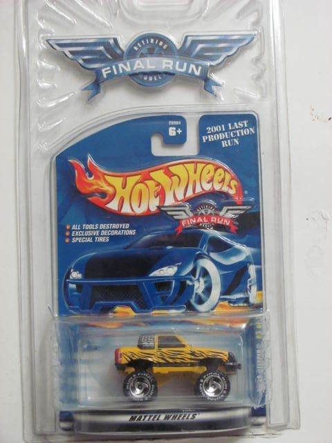 HOT WHEELS 2001 FINAL RUN GULCH STEPPER YELLOW #3/12