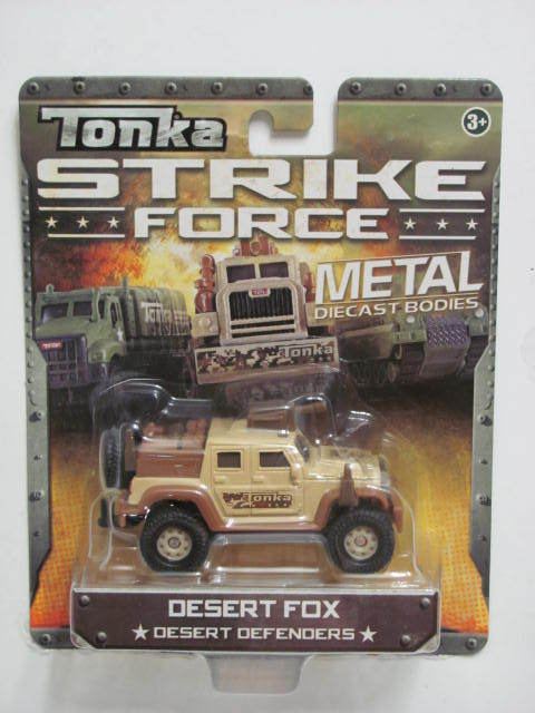 TONKA STRIKE FORCE METAL DIECAST BODIES DESERT FOX 3+