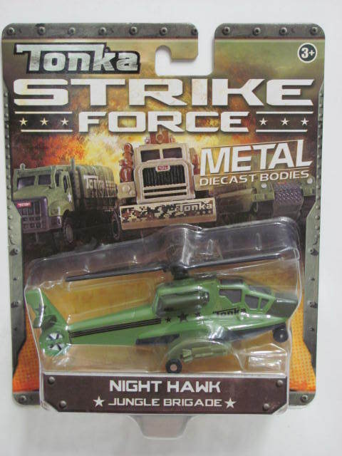TONKA STRIKE FORCE METAL DIECAST BODIES NIGHT HAWK 3+